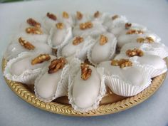 Camafeu de nozes - Receita de doces finos para casamento.