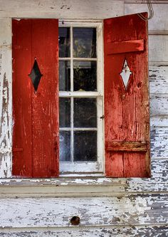 Color Theory Therapy| Serafini Amelia| Red Shutters ~ Cahaba, Alabama
