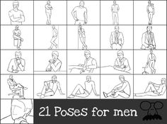 Men's Tips:  How to look your best in photos.  21 Photo poses for men ===> FOLLOW US ON PINTEREST for Style Tips, Men's Basics, Men's Essentials on anything, OUR SALES etc... ~ #VujuWear