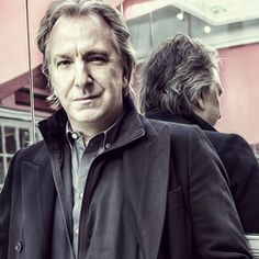 """April 1, 2010 - Alan Rickman - The photo is from a series that was taken to promote """"The Creditors"""" at the Tricycle Theatre ... the color has been washed out a bit. Alan Rickman directed the production of the play. One critic said the play was """"directed with surgical exactitude by Alan Rickman."""""""