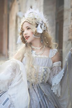 Miracles -Ode To The Cross- Vintage Classic Lolita Jumper Dress Do you enjoy reading stories about people from different cultures finding love? Check these out. Kawaii Fashion, Lolita Fashion, Cute Fashion, Gothic Fashion, Vintage Fashion, Fashion Outfits, Harajuku, Cute Dresses, Cute Outfits