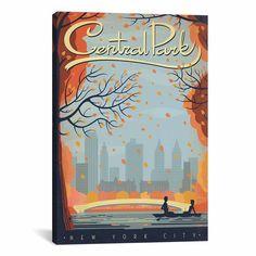 Central Park Canvas Print - Overstock.com ($33.14)