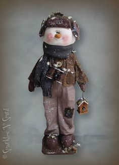 snowman cloth craft doll pattern
