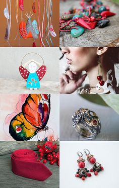 blue and red springs inspiration by Terracotta Prim on Etsy--Pinned with TreasuryPin.com