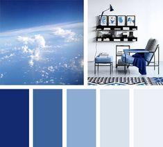 Azules que surgen del cielo, es una paleta de colores que te puede servir para decorar tu casa.  Espacio via: lifeonsundays
