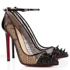 Welcome to our store,Cheapped bottom heels will offer you the best chance to enjoy our top-grade quality.Discount red bottom Christian Louboutin Picks and Co 120mm Pumps Black will give you many surprises that you can not image.No matter what kind of Christian Louboutin shoes you want,we are 100% guarantee the high-quality. Color: Black Material: Black crystal, spikes and PVC Heel Height: 4.7 inches approx. - 120 mm approx Signature red leather sole Place of origin:Made in Italy
