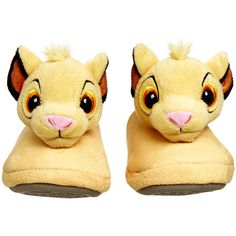 Unisex Lion King Slippers ($25) ❤ liked on Polyvore featuring shoes and slippers