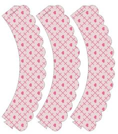 Cupcake Wrappers: Pink Hearts