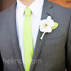 lime green and grey