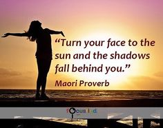 Turn your face to the sun and the shadows fall behind you. #Quotes #Positivity https://www.focusfied.com