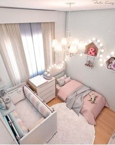 Smart Nursery Ideas: Sharing a Room with Baby Shared Room Kinderzimmer Ideen Baby Bedroom, Baby Room Decor, Girls Bedroom, Nursery Decor, Room Baby, Nursery Design, Trendy Bedroom, Sister Room, Toddler Rooms