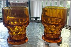 Check out this item in my Etsy shop https://www.etsy.com/listing/247800721/vintage-pair-of-georgian-amber-tumblers