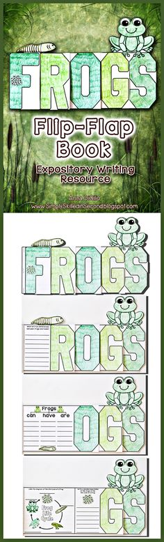Have some Fun with Frogs with this FROGS FLIP-FLAP BOOK! This adorable book will allow your students to apply the knowledge they learned about frogs in a Fun and Interactive way!$