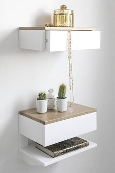 Best Contemporary Wall Mounted Bed Side Table Godar Furniture 400 x 300