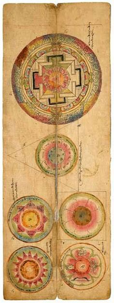 lich-tung:  innerbohemienne:  Six mandalas, Central Tibet, Lhasa, c.1665  //