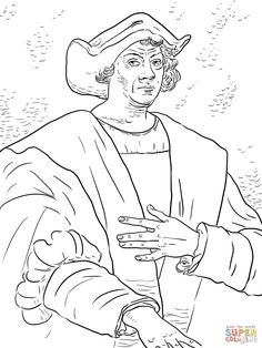 Christopher Columbus Coloring Page From Day Category Select 28148 Printable Crafts Of Cartoons Nature Animals Bible And Many More