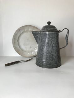 Excited to share the latest addition to my #etsy shop: Vintage Enamelware Coffee Pot * Graniteware Coffee Pot * Gray Enamelware * Primitive * Farmhouse Coffee Pot * Campfire * Cowboy Coffee Pot #gray #housewares #birthday #mothersday #vintageenamelware #vintagegraniteware #grayenamelware #rustic #farmhouse