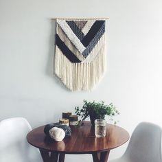 Woven Wall Hanging | Geometric Neutral Weaving by UnrulyEdges on Etsy https://www.etsy.com/listing/275299070/woven-wall-hanging-geometric-neutral