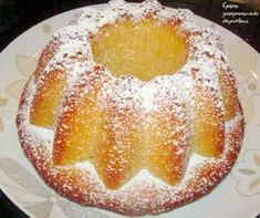 Lemon cake with olive oil Lemon Recipes, Sweets Recipes, Greek Recipes, Cooking Recipes, Cake Recipes, Greek Sweets, Greek Desserts, Just Desserts, Cake Cookies