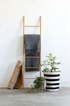 Scară decorativă VANDSTED bambus | JYSK Wood Ladder, Ladder Decor, Hallway Unit, Concrete Furniture, Home Alone, Bruges, Scandinavian Interior, Coat Stands, Beautiful Space