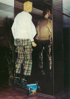 Vivienne Westwood Tartan Bondage Pants (photo by Nick Knight)