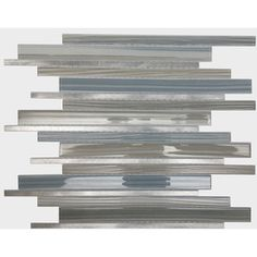 American Olean Quicksilver Mixed Material (Glass and Metal) Mosaic Linear Indoor/Outdoor Wall Tile (Common: 12-in x 15-in; Actual: 12.2-in x 15.2-in)