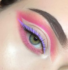 """369 Likes, 8 Comments - Makeup (@ciennajanebeauty) on Instagram: """"In love w colored liner @nyxcosmetics vivid blossom Inspired by @glowawaymeg…"""""""