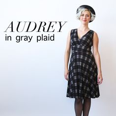 the audrey is a v neck dress that also features a v back. the full swirl skirt is knee length. machine wash cool, hang dry, no ironing ever needed! the audrey is an american made dress crafted with love in Brooklyn, NY