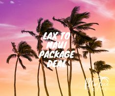 LAX to Maui flight and hotel deal and staying at the Aston Maui Banyan. Package Deal, Flight And Hotel, Hotel Deals, Palm Trees, Trips, Neon Signs, Travel, Palm Plants, Viajes