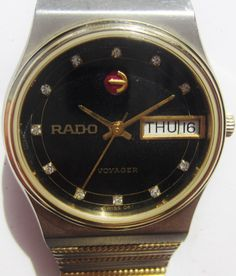 3edec65963d3 Rado Voyager Automatic Day Date Watch Gents 1980s Two Tone Bracelet  Professionally Serviced 6 Months Warranty