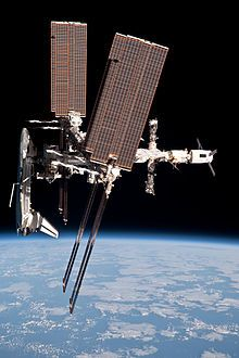 Space Shuttle Endeavour docked with the International Space Station (ISS)