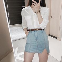 Casual Fall Outfits That Will Make You Look Cool – Fashion, Home decorating Korean Girl Fashion, Korean Fashion Trends, Korean Street Fashion, Korea Fashion, Asian Fashion, Fashion Ideas, Fashion Styles, Ulzzang Fashion Summer, Trendy Fashion