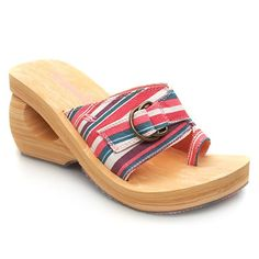 Skechers Spirals Switch Stripe Summer toe post sandals from Skechers. Wooden look construction which has a stripy fabric strap and non-adjustable buckle feature on the middle. Wedge look heel with cut out section and a height of 9c http://www.comparestoreprices.co.uk/womens-shoes/skechers-spirals-switch-stripe.asp