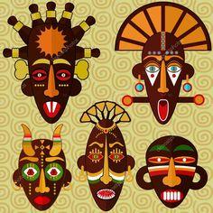 Resultado de imagen para imagenes de mascaras africanas