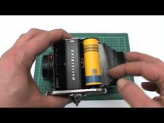 Loading a 120mm film into a Hasselblad - YouTube
