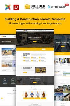 Builder - Construction Company Joomla Template Big Screenshot
