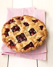 I've always been a bit intimidated by cherry pie and the large amount of work it would require to pit each individual cherry, but this sweet cherry pie from Martha Stewart may push me pretty quickly from the contemplation stage of change through to the action stage :)