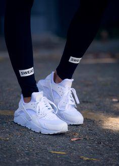 Air Huarache 'All White' (via Sweatthestyle) @ Nike US | Finishline