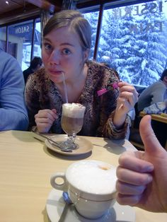 Me having a hot chocolate シ