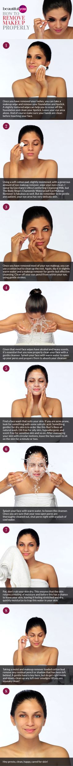 The right way to #remove your #makeup | Read more on #BeautifulYou #Pakistan #skincare