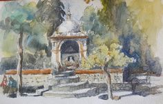 Sevilla, spain, feb 2015, 11:00. In the Royal gardens. Everywhere you look, there is a picture to do. So, I sat, and draw.