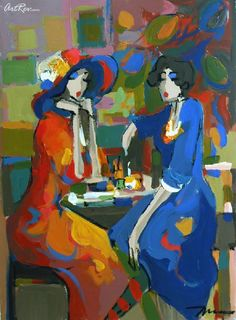 Isaac Maimon A Helpful Ear, Original Acrylic Painting - Subject: Figurative