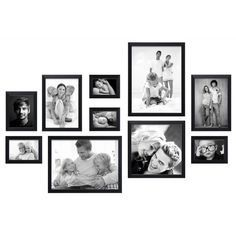 🌟 💖 🌟 💖 Photo wall ready to use to 10 frames - Black - and- Gallery Wall Layout, Gallery Wall Frames, Frames On Wall, Collage Mural, Photo Wall Collage, Picture Wall, Images Murales, Happy New Home, Photo Wall Decor
