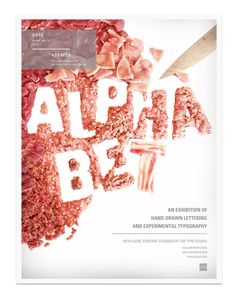 AIGA Poster Series by Kittaya Treseangrat, via Behance (I think I just got the meat sweats)