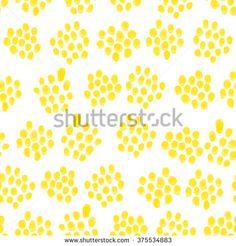 seamless small yellow dots