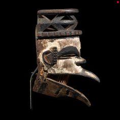 Ogoni Wood Bird Mask
