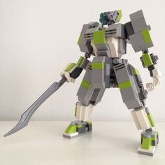 LEGO mech - Robots should have swords! - Key pieces: 14 mini-ball joints (from several Chima: Wolf Legend Beast sets) by @ohmgee