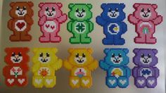 Care Bears Custom Magnet Set perler beads by MagneticMommy on Etsy
