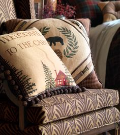 Cabin Throw Pillows