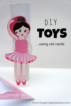 DIY Toys using recycled cards and imaginative play. Great for toddlers and babies.